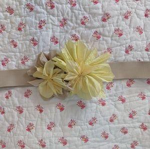 Zara floral stretch belt